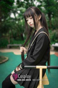 Đồ Nữ Sinh Nhật Đen Kiểu Thủy Thủ