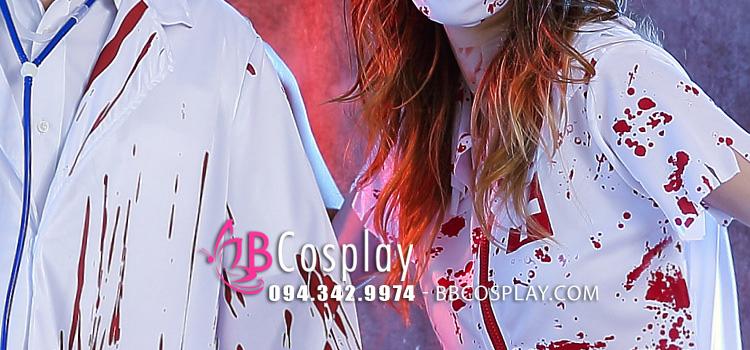 Đồ Bác Sĩ Ma Halloween Cho Nữ