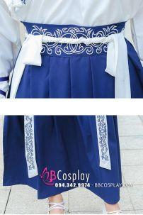 Hán Phục Hiện Đại Áo Trắng Váy Xanh