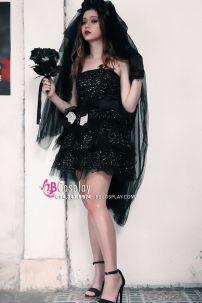 Đồ Cô Dâu Ma Váy Ngắn Cho Halloween
