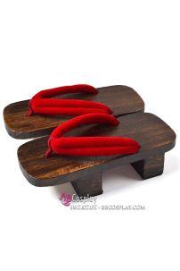 Guốc Gỗ Nhật Cho Nữ Size 38-40 Quai Đỏ