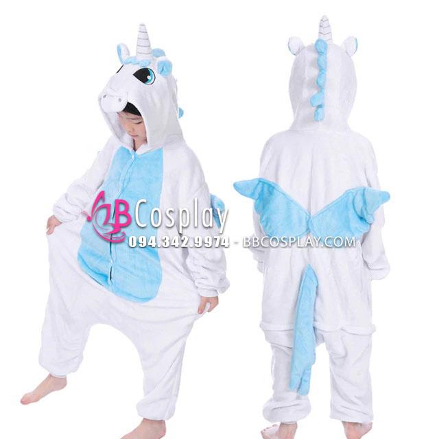 Bộ Đồ Thú Cho Trẻ Em Unicorn Xanh