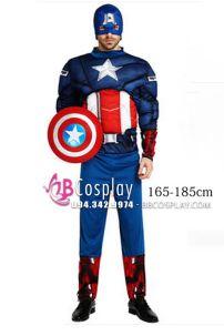 Trang Phục Captain America Độn Cơ Bắp