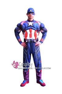 Bộ Đồ Captain America Độn Cơ Bắp In 3D