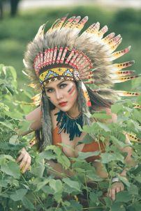 Nón Thổ Dân Da Đỏ Ngắn Chuẩn Indian