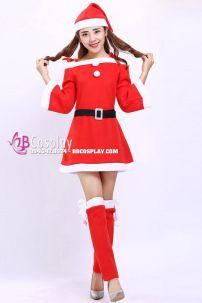 Đầm Noel Mới Trễ Vai