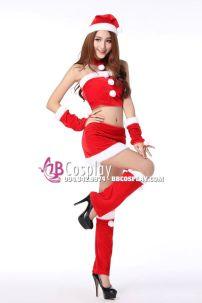 Bộ Đồ Noel Sexy Gợi Cảm 6 Chi Tiết