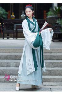 Hán Phục Cho Nữ Bigsize Ngọc Lục Khảm Size XL