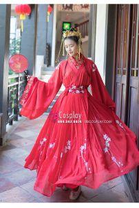 Hán Phục Cẩm Tử Vũ Thêu Hoa Váy Rộng 6m