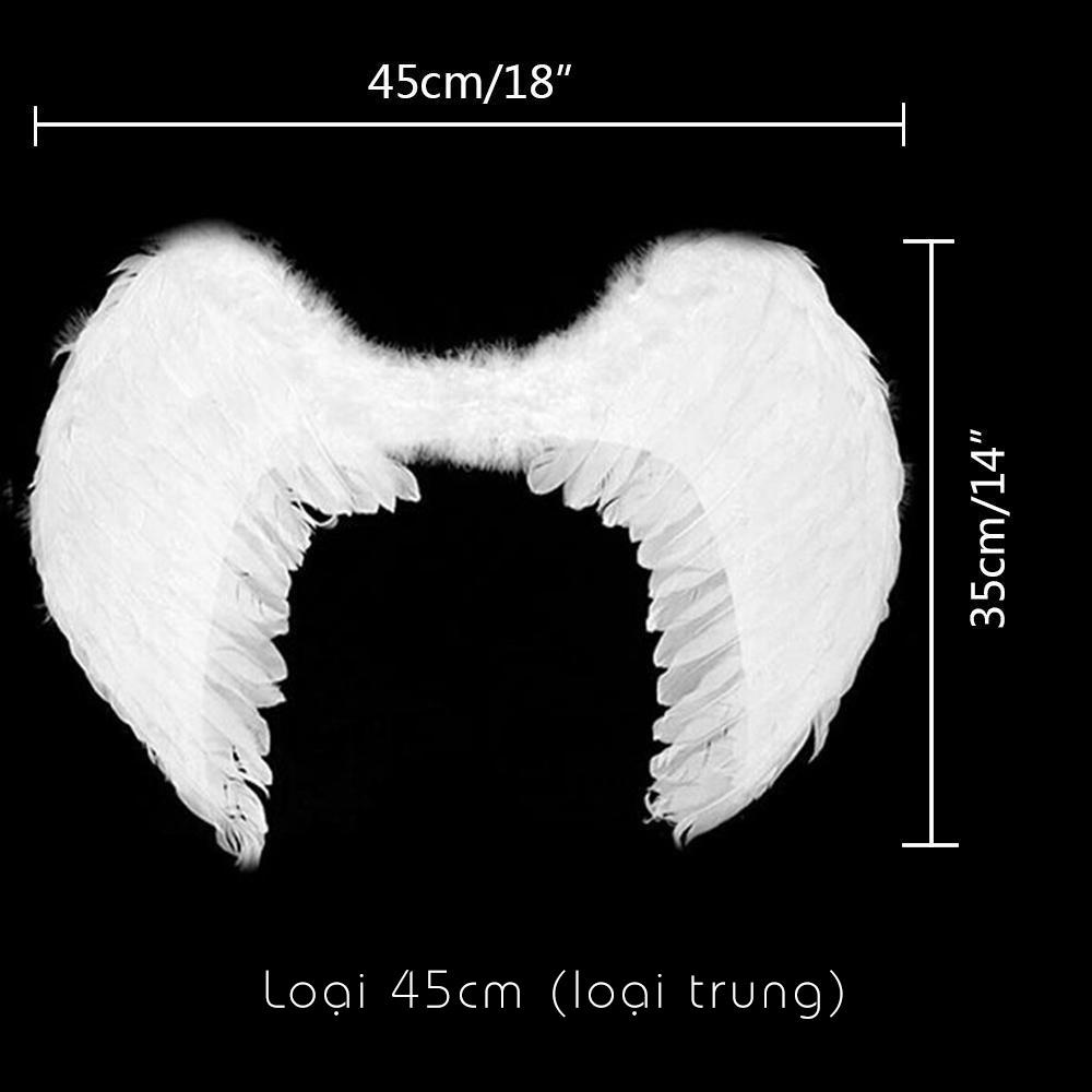 Cánh Thiên Thần Đen Lông Ngỗng 60cm