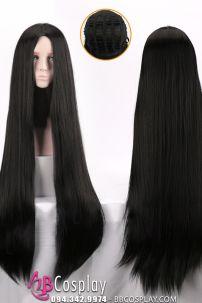 Tóc Giả Cổ Trang Đen 2 Mái 100cm
