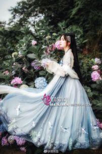 Hán Phục Bạch Hạc Du Tiên Váy Thêu 6m