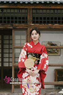 Kimono Chuẩn Nhật Đỏ