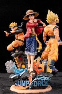 Bộ 3 Mô Hình Figure Naruto Luffy Goku - 50th Anniversay Ver.