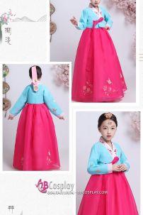 Hanbok Đẹp Cho Bé Gái Voan Thêu