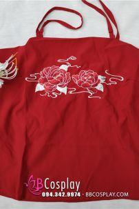 Áo Yếm Đỏ Cổ Trang Thêu Hoa Hồng Dùng Cho Hán Phục