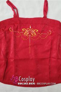 Áo Yếm Đỏ Che Lưng Thêu Hoa Bỉ Ngạn