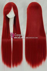 Tóc Giả Đỏ Dài 100cm