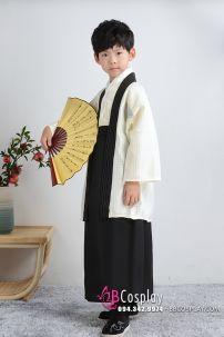 Kimono Bé Trai - Mẫu Trắng