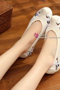 Giày Thêu Hán Phục Đế 2cm Size 38