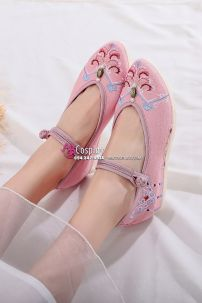 Giày Thêu Hán Phục Đế 4cm Size 37