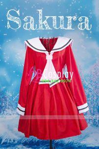 Đầm Lolita Sakura Mùa Đông Noel Giáng Sinh New Year Hàng May Vải Dày Xịn Bền Đẹp Rẻ Màu Đỏ
