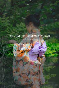 Đai Lưng Kimono Nhật Tím Nhạt