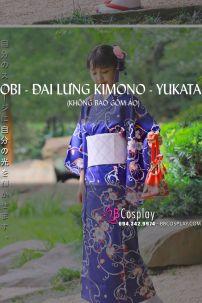 Đai Lưng Kimono Hồng Nhạt Caro