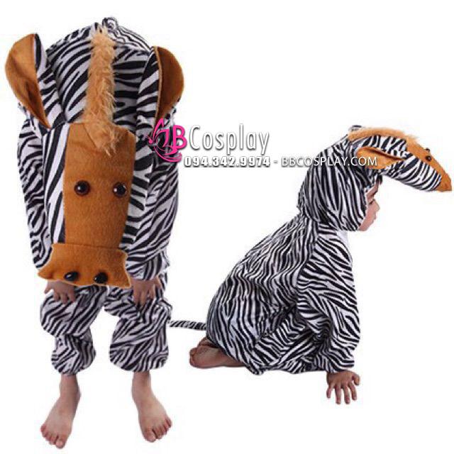 Đồ Cosplay Con Ngựa Vằn Cho Bé