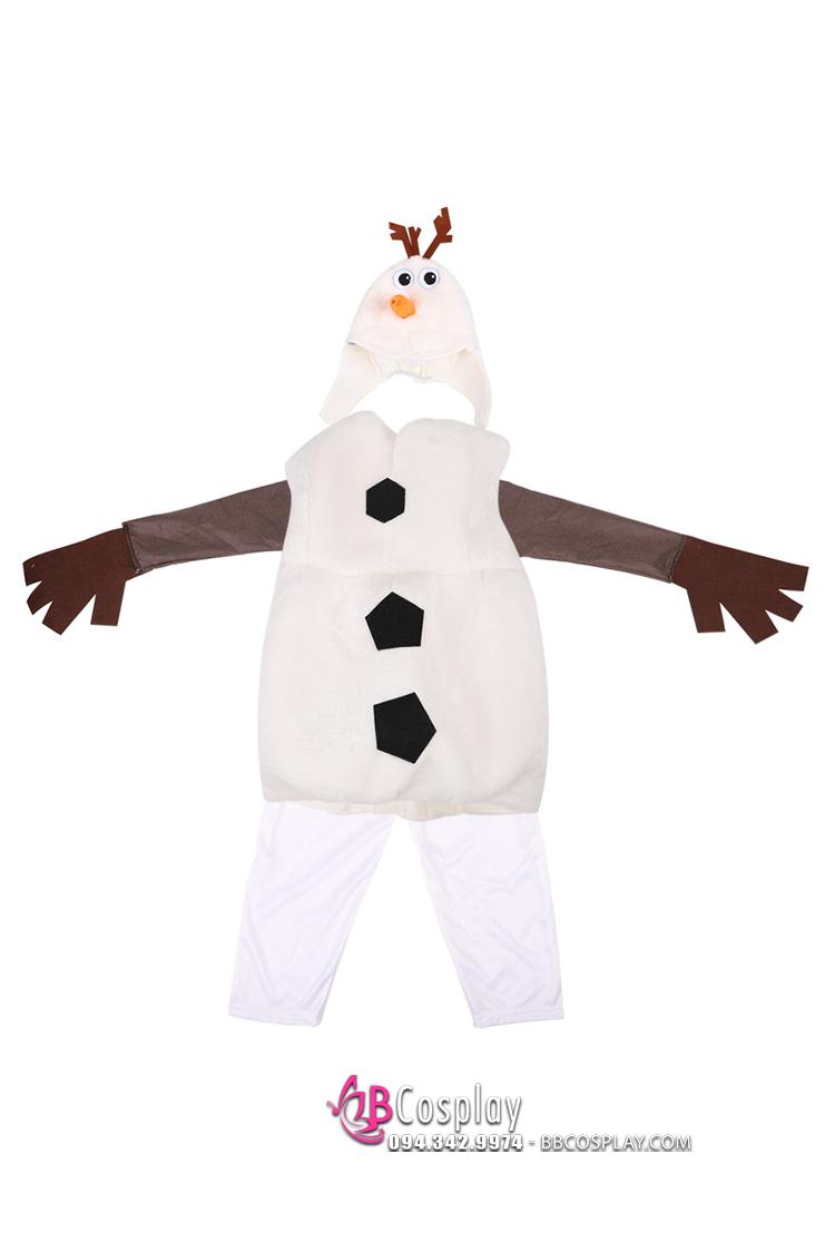 Trang Phục Olaf Người Tuyết Trẻ Em 100-110-120-130-170