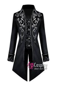 Tuxedo Gothic Halloween Black - Vest Đuôi Tôm Đen