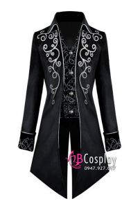 Tuxedo Gothic Halloween Black - Vest Đuôi Tôm