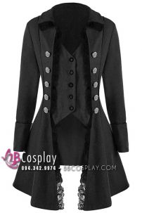 Áo Khoác Gothic Trung Cổ Kiểu Tuxedo Có Ren