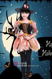 Trang Phục Phù Thủy Halloween Trẻ Em