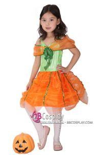 Trang Phục Bí Ngô Halloween Trẻ Em