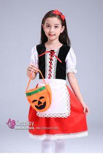 Trang Phục Cô Bé Quàng Khăn Đỏ Halloween Trẻ Em