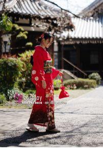 Yukata Chuẩn Nhật Đỏ (Kimono Mùa Hè Rực Rỡ)
