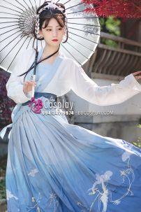 Hán Phục Bạch Hạc Lưu Vân