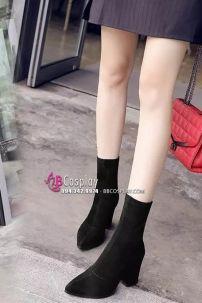 Giày Boot Nữ Cao Gót 10cm Da Lộn Size 38-39