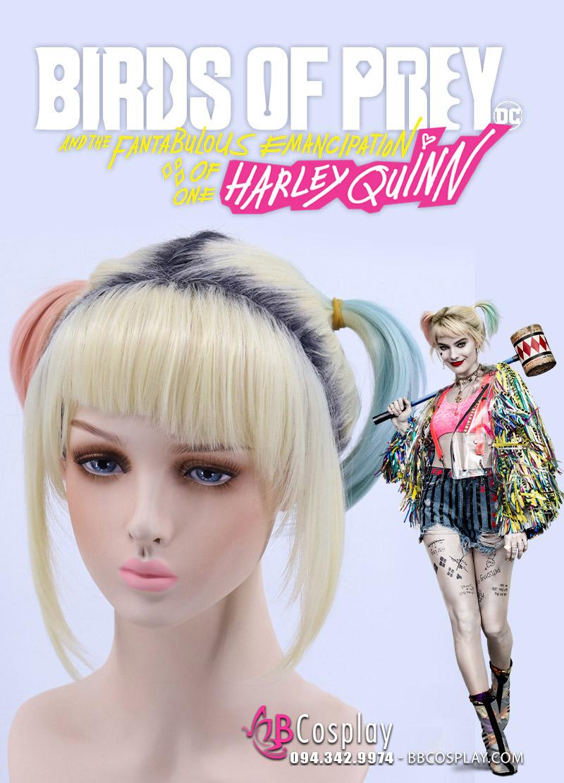 Tóc Giả Harley Quinn 2020 Birds Of Prey Chùm Tóc Dài