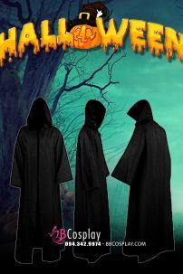 Choàng Phù Thuỷ Đen Kaki Halloween