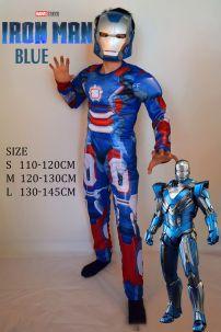 Trang Phục Người Sắt Xanh Iron Men Blue Cho Bé