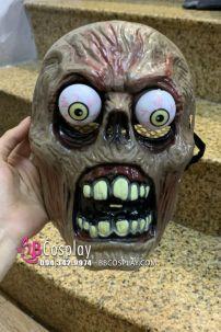 Mặt Nạ Zombie Halloween Kinh Dị Mắt Lồi