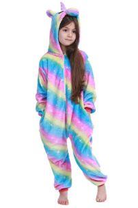 Đồ Ngủ Pijama Unicorn Cầu Vồng Cho Trẻ