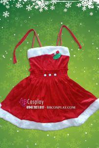 Đầm Giáng Sinh Trẻ Em 2 Dây Dễ Thương (50cm- 100cm)