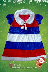 Đầm Giáng Sinhh Cho Bé Gái 6 Tuổi 100cm - 110cm