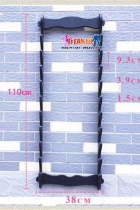 Giá Để Kiếm Gỗ Treo Tường 10 Tầng