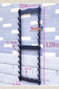 Giá Để Kiếm Gỗ Treo Tường 12 Tầng