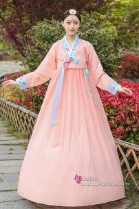 Hanbok Chuẩn Hàn Màu Carot Nữ Tính