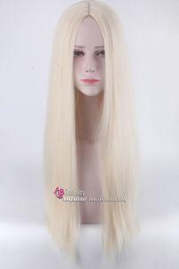 Tóc Giả Vàng Kim 2 Mái 80cm